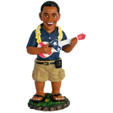 President Obama with Ukulele Small