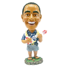 President Obama with Ukulele Bobble Head Small