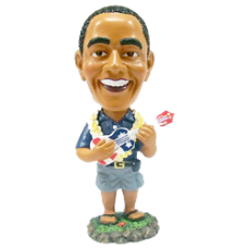 President Obama with Ukulele Bobble Head Large
