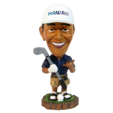 President Obama Golfing Small Bobble Head