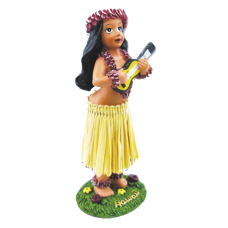Girl with Ukulele Dashboard Doll