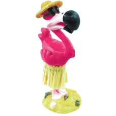 Hula Flamingo Dashboard Doll