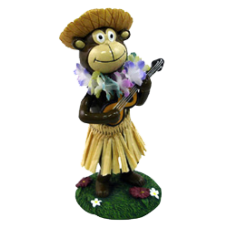 Hula Monkey Dashboard Doll