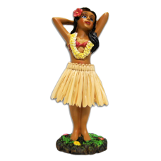 Hula Girl Posing Dashboard Doll