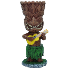 Tiki Ukulele Dashboard Doll