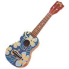"Blue & Yellow  Aloha 21"" Ukulele"