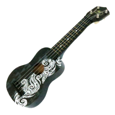 Black Tribal Ukulele