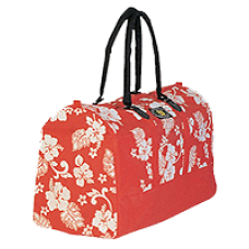 Red Floral Duffle Bag