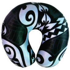 Black Tribal Neck Pillow