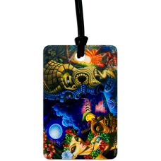 Moon of Manakoora Luggage Tag