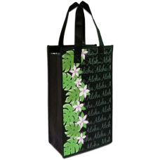 Aloha Plumeria Double Wine Bag