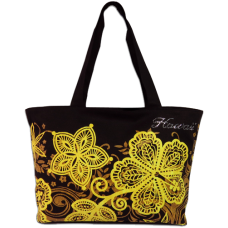 Batik Hibiscus Medium Tote
