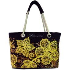 Batik Hibiscus Beach Bag