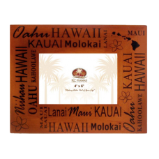 "Hawaiian Islands Wood Frame 4"" x 6"""