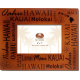 "Hawaiian Islands Wood Frame 5"" x 7"""