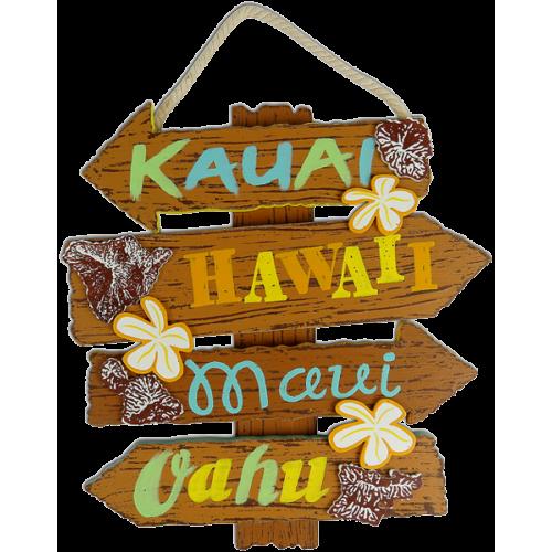 Hawaiian Islands Wood Sign