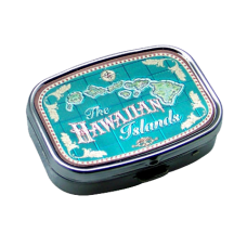Hawaiian Map Pill Box