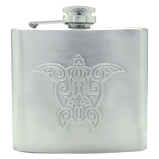 Honu Embossed Flask