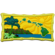 Hawaiian Islands PVC magnet
