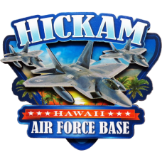 Hickam AFB Wood Magnet