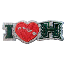 I Love H Embroidery Patch
