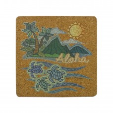 Island Palm Cork Coaster